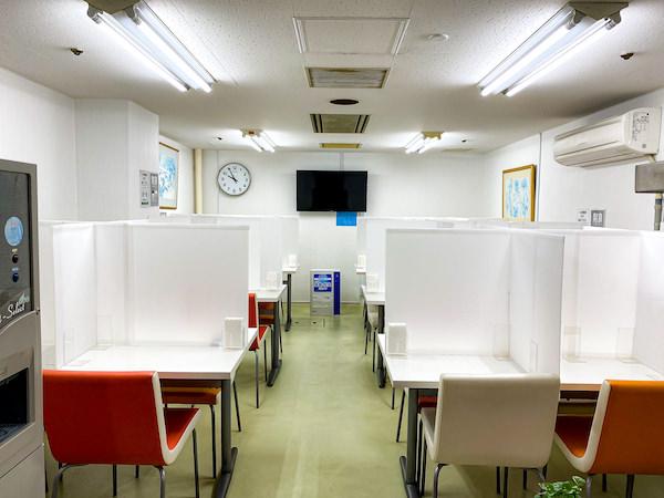リゾートバイトの社員食堂