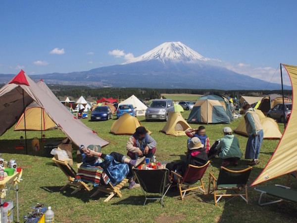 富士山が見えるキャンプ場