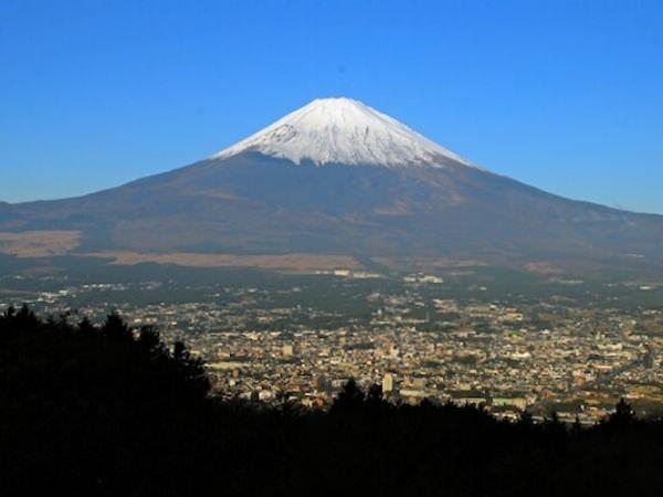 箱根から見える富士山
