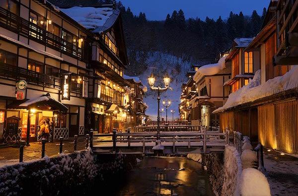 冬の温泉旅館