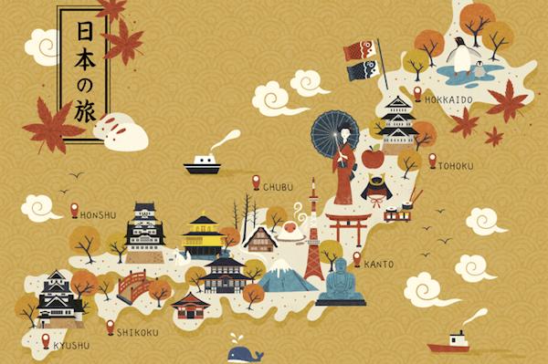 日本の旅MAP