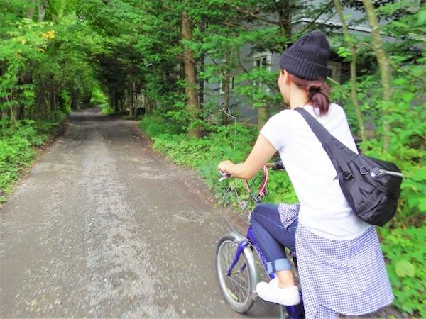 軽井沢でサイクリング