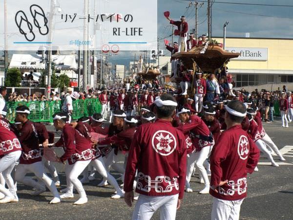 城崎でのだんじり祭