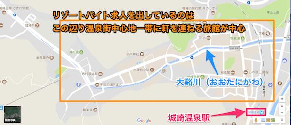 城崎温泉街のMAP