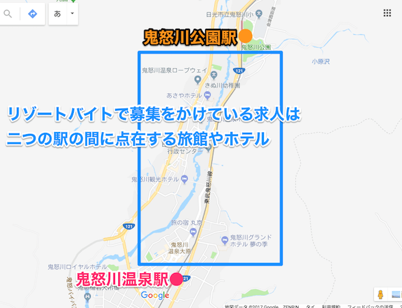 鬼怒川温泉街MAP