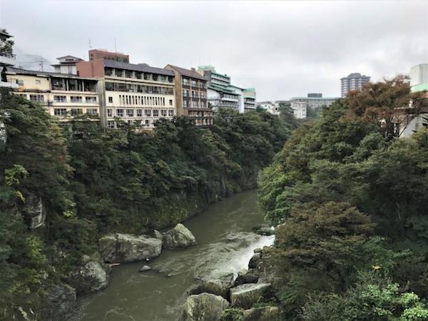 鬼怒川温泉の風景