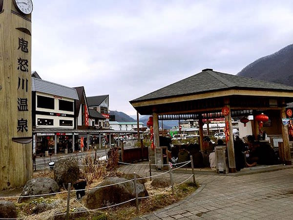 鬼怒川温泉街の雰囲気