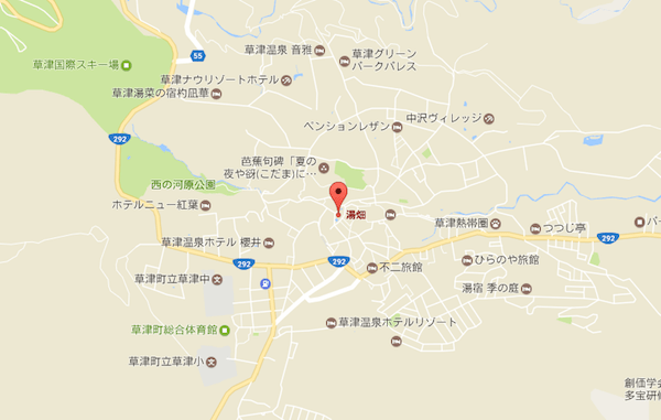 草津町のMAP