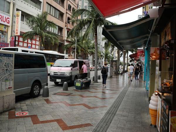 那覇市内国際通りの写真