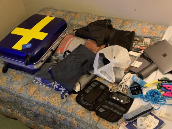 リゾートバイトに持っていった全ての荷物