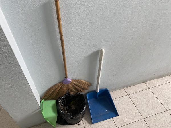 リゾートバイト寮の掃除道具