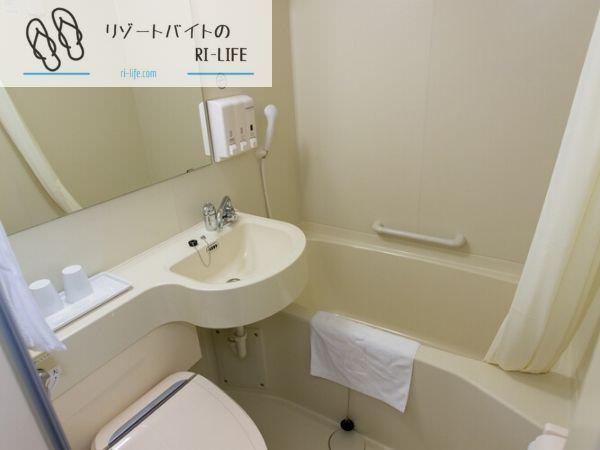リゾートバイト個室寮のシャワールーム