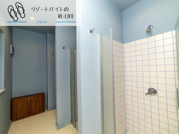 一部共同個室寮のシャワールーム