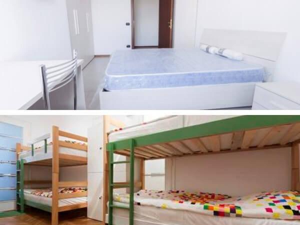 リゾートバイトの個室寮と相部屋寮