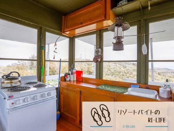 一部共同個室寮の共同キッチン