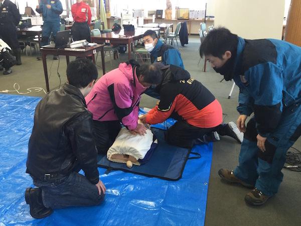 スキー場 AED研修
