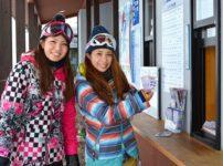 スキー場のチケット売り場