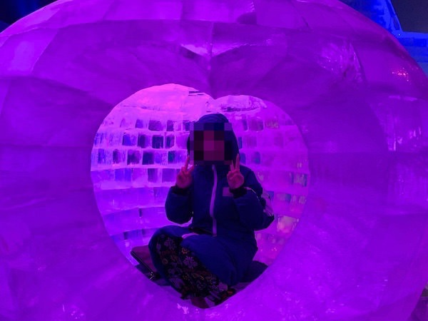 トマムのアイスビレッジにある氷で作られた小屋